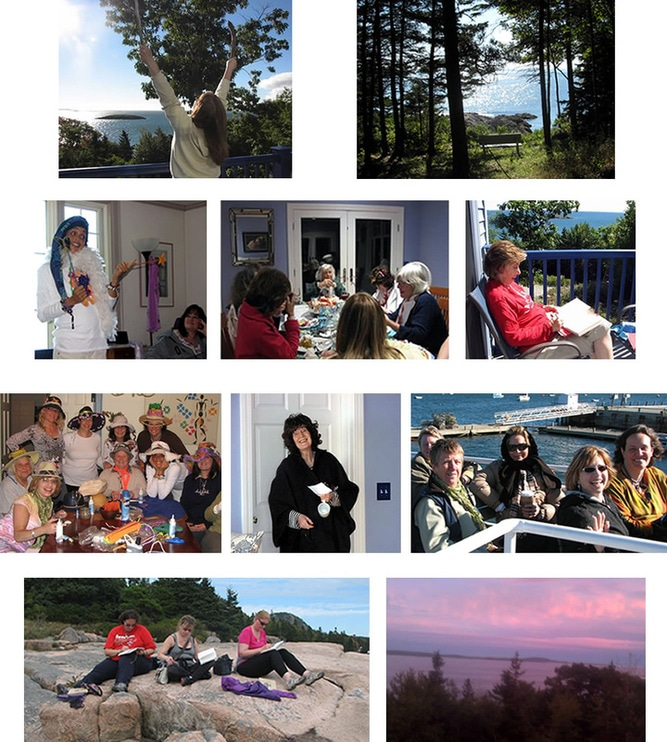 Photos of the Women on the Writing Retreat in Bar Harbor, Me.